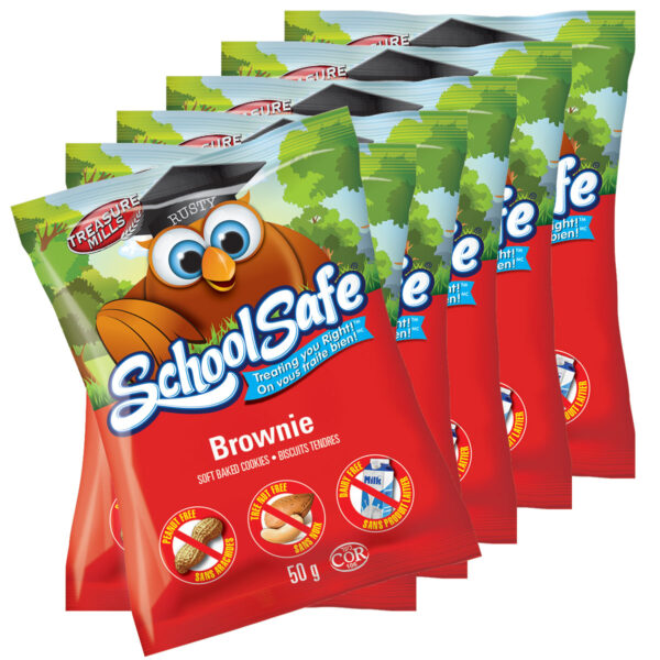 School Safe - Brownie Soft-baked Cookies - Dairy free - Peanut free - Tree nut free - Individually Wrapped