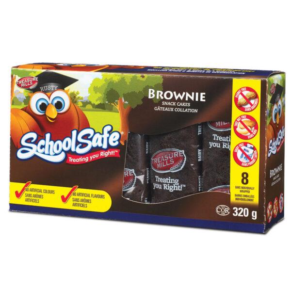 School Safe - Brownie Bars - Dairy free - Peanut free - Tree nut free - 8 pack box