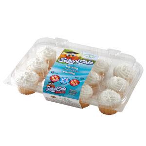 School Safe - Vanilla Cupcakes - Dairy free - Peanut free - Tree nut free - 12 pack tray