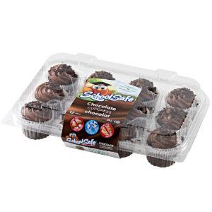School Safe - Chocolate Cupcakes - 12 pack tray - Dairy free - Peanut free - Tree nut free
