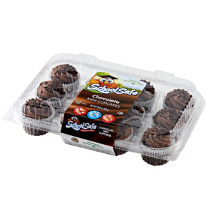 School Safe - Chocolate Cupcakes - 12 pack tray - Dairy free - Peanut free - Tree nut free