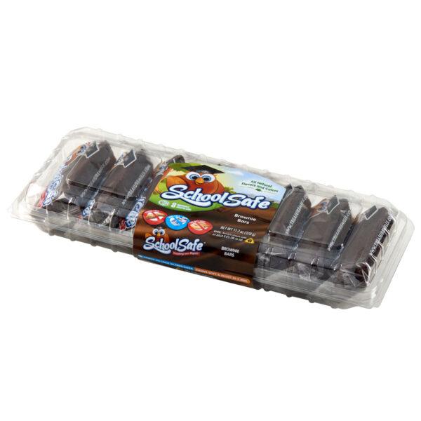 School Safe - Brownie Bars - Dairy free - Peanut free - Tree nut free - 8 pack tray