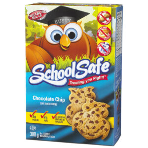 School Safe - Chocolate Chip Soft-baked Cookies - Dairy free - Peanut free - Tree nut free - 6 X 2 pack box