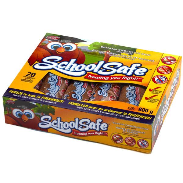 School Safe - Banana Chocolate Chip Snack Cakes - Dairy Free - Peanut Free - Tree nut free - 20 pack Box