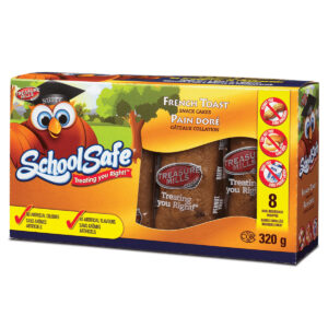 School Safe - French Toast Snack Cakes - Dairy free - Peanut free - Tree nut free - 8 pack box