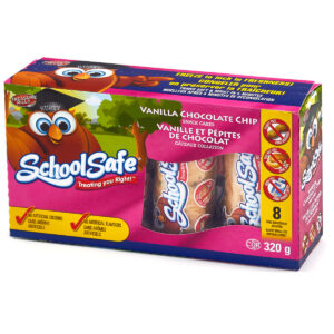 School Safe - Vanilla Chocolate Chip Snack Cakes - Dairy free - Peanut free - Tree nut free - 8 pack box