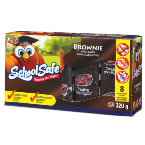 School Safe - Brownie Bars - Dairy free - Peanut free - Tree nut free - 8 pack box