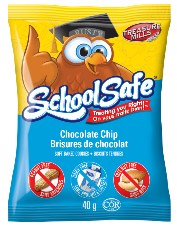 School Safe Chocolate Chip Soft-baked Cookies